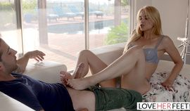 LoveHerFeet - Stepson Caught Jerking Off Leads To Hot Foot Sex