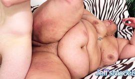 Crystal Blue - super fat brunette in a hardcore action