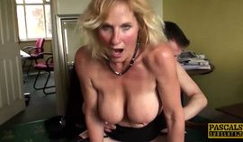 Mature subslut Molly Maracas plowed hard before cum buffet