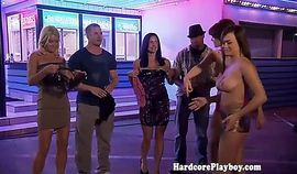 Reality babes go topless in group fun