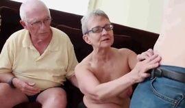 Granny sucks grandpa while sucking & fucking her boytoy