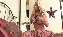 Black stud fucking his best friends hot blonde daughter