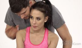 Skinny brunette Chloe Lexy gives a juicy rimming and get fucked