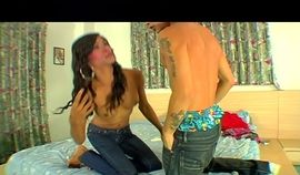 Sexy black haired tranny getting her juicy butt pounded real hard