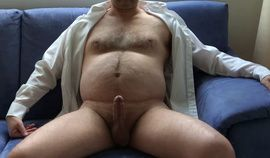 mature exhibitionist  horny in suit, stripping