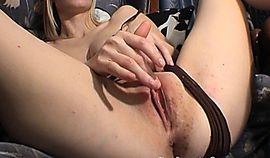 Patrycja Masturbates to Orgasm Over and Over Again and Cums Doggy Style