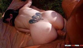 Vladana loves to get rammed hard outdoors
