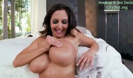 Ava Adams Horny brunette milf likes on spicy