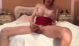 Yet another horny shemale filling condom 4