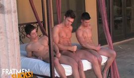 Twins Kc Coxx and Micky Jerk Off Session with Friend