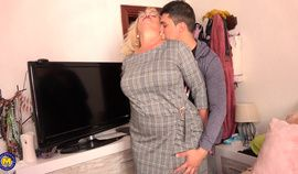 Spanish Granny gets fucked by young boy