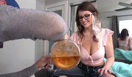 Drunk sister drink my sperm