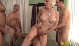 Golden Slut - Mature Cumsluts Getting Gangbanged Compilation Part 2
