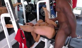Horny Gym Workout for the busty Raven Hart