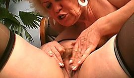 Two old lesbian whores licking snatch in their old age