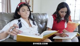 Dyked - Cute Teen Strapon Fucked By Her Sexy Tutor