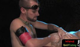 Gaping asshole fisted and toyed by hunk HD