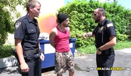 Gay thug gets caught stealing and drilled by horny policemen