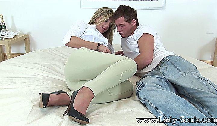 Busty Milf Fucks Young Stud