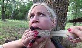 Hot blonde Milf taken captive