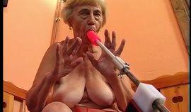 German Granny versus a fucking machine