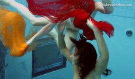 Two redheads swimming SUPER HOT!!!