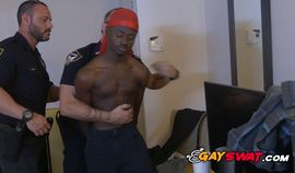 Gay bottom criminal takes horny officers cock deep and hard