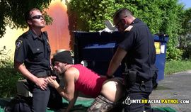Gay officers give criminal suspect the rightful rimjob before drilling him