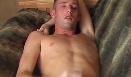 Gay cock wanker Jared interviewed before cumshot