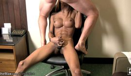 Oiled up ladyboy sucks cock and gets huge cumload on bigtits