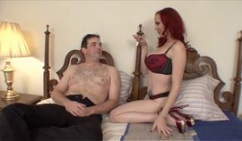 Redhead Mistress and forced bisexual cuckold
