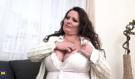 Big breasted BBW gets fucked and her tits creamed with cum
