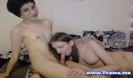 Cute Trannies Giving each other a Hot Blowjob