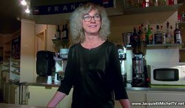 French mature barmaid Isabelle anal