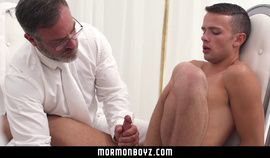 MormonBoyz - Young missionary boy barebacked by bearded priest