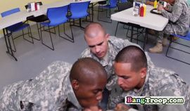Gay soldiers engage in hot foursome with superior in classroom