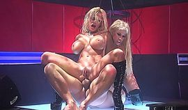 Threesome with two smoking hot blonde stripper sluts