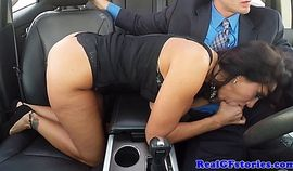 Cheating wife doggystyling in stockings