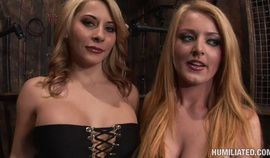 Sophie Dee gets a bunch of Dicks to use Madison Ivy as a Cum rag