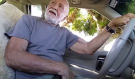 Handsome Grandpa Sucks cock in His Car