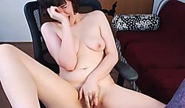 College Teen Stripteases and Fingers Herself