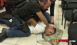 Wanted gay criminal gets caught by very horny gay officers
