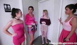 Hot amateur dorm teen interracial initiations
