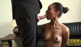 Ebony submissive throated hardcore scene