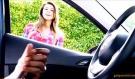 Girl takes pics while he masturbates in his car
