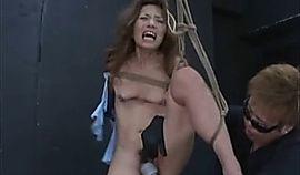 Asian Teen Shibari Strung And Made To Orgasm