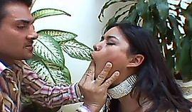 Porner Premium Latina slut in latex double penetration