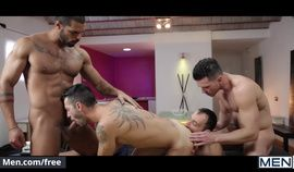 Andy Star and Ely Chaim and Lucas Fox and Paddy OBrian - Hat Trick Part 3 - Jizz Orgy - Men.com