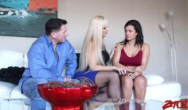 Babysitter banged in a hard-core threesome