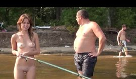 SEXY AMATEUR RUSSIAN GIRLS FISHING IN THE NUDE